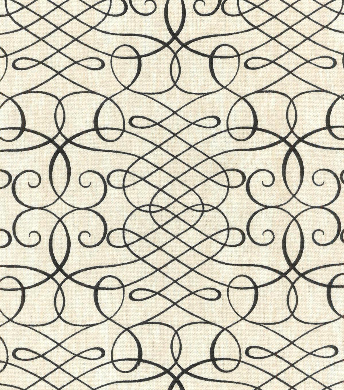 Waverly Upholstery Fabric 54u0022 Calligraphy Swirl Ink