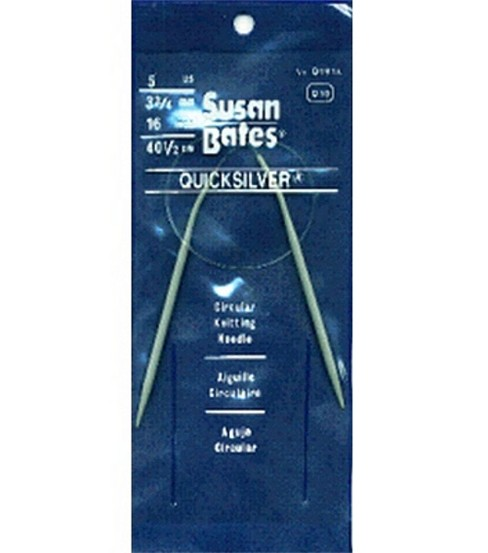 Susan Bates Quicksilver Circular Knitting Needles 16\u0022-Size 5