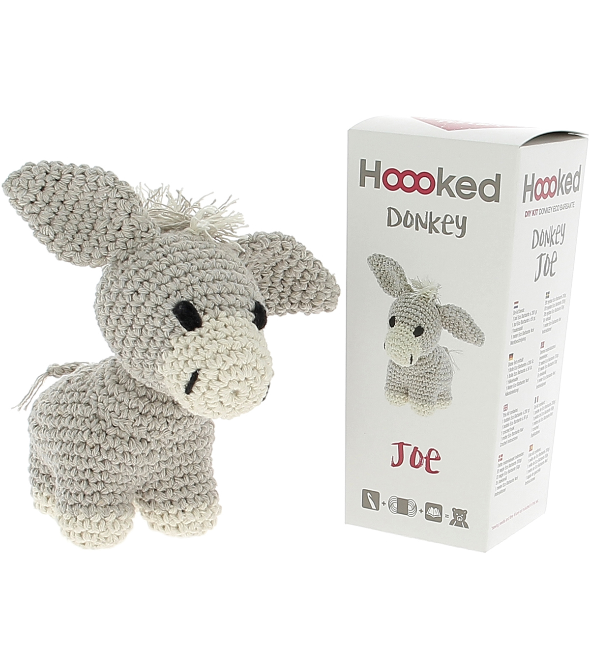 Hoooked Eco Barbante Donkey Joe DIY Crochet kit-Biscuit