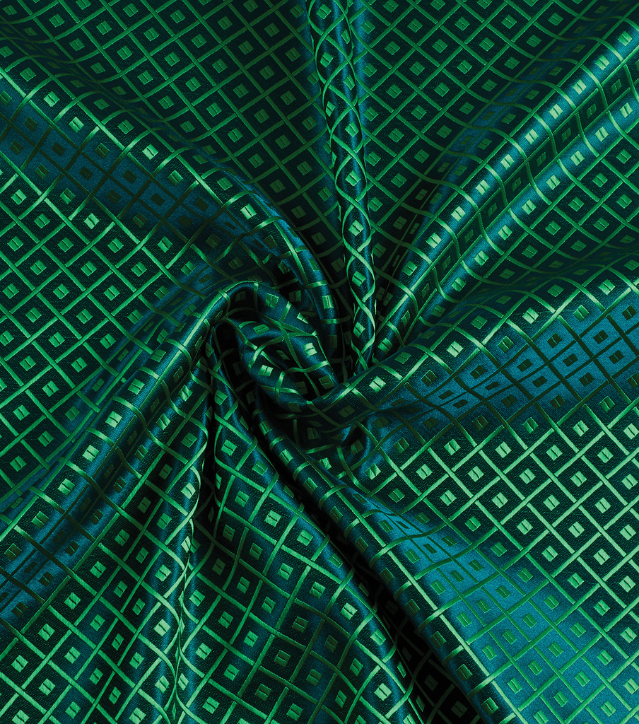 Yaya Han Cosplay Brocade Fabric 58\u0027\u0027-Emerald Japanese Geometric