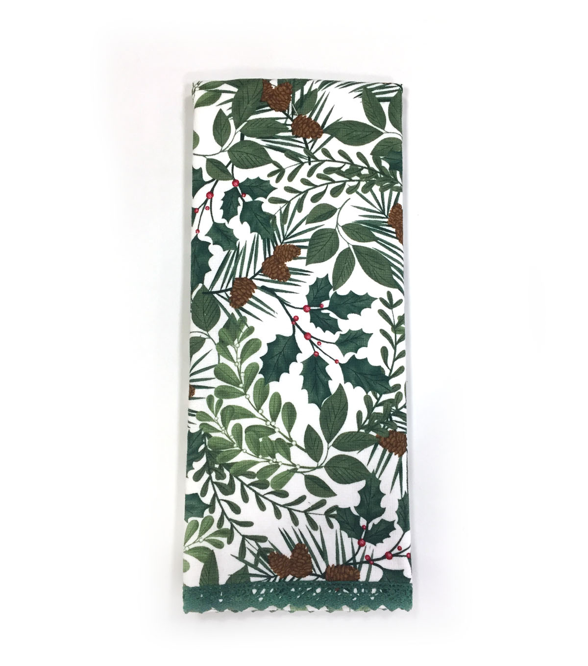 Maker\u0027s Holiday Christmas 16\u0027\u0027x28\u0027\u0027 Kitchen Towel-Winter Foliage
