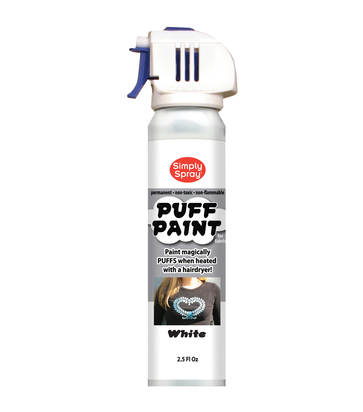 Spray Puff Fabric Paint 2.5oz-White