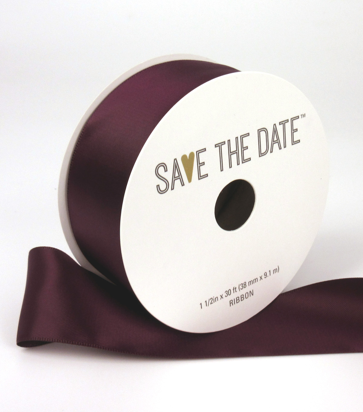 Save the Date 1.5\u0022 x 30ft Ribbon-Cramberru Satin