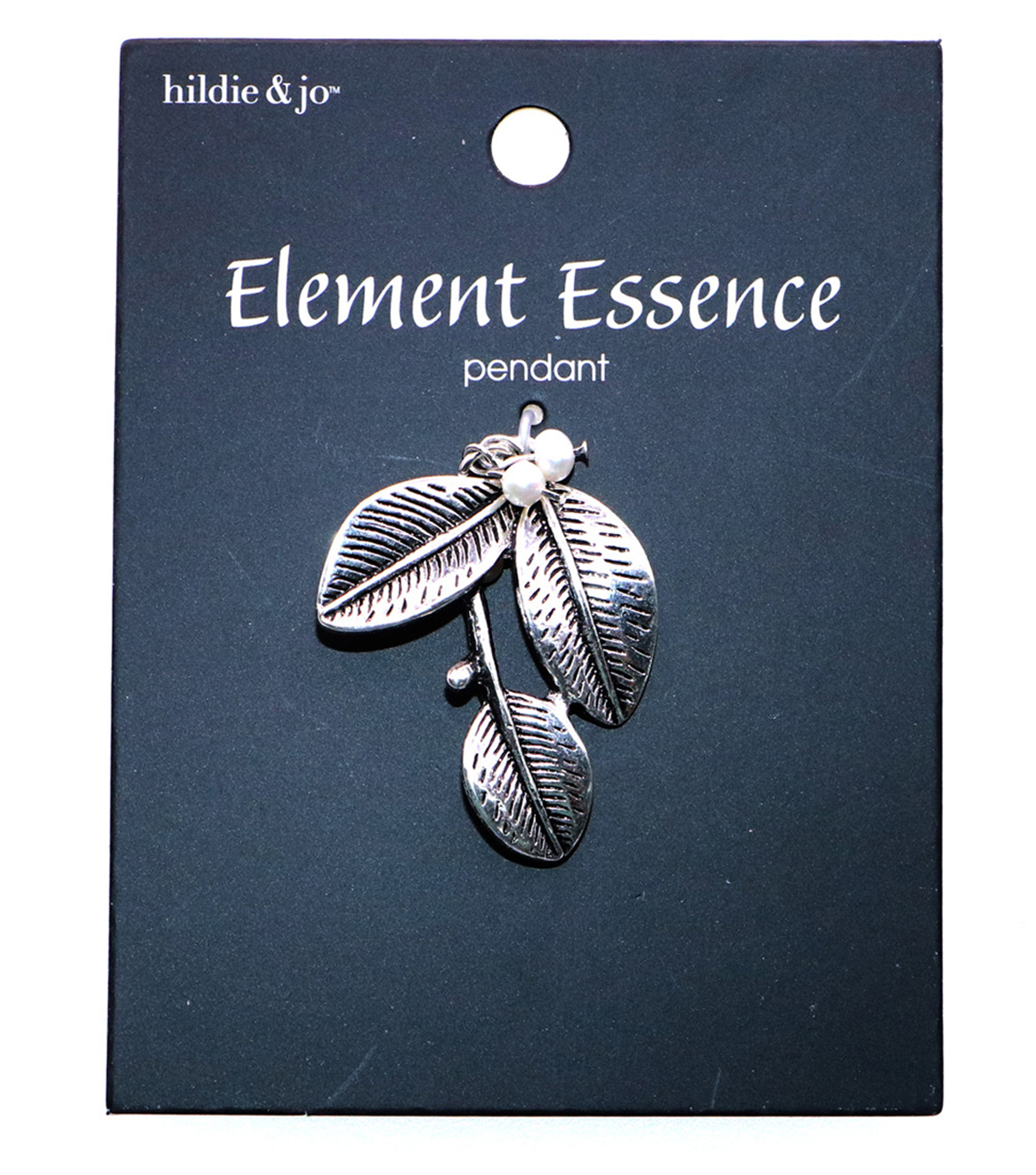 hildie & jo Element Essence Silver Leaf Pendant-Pearl