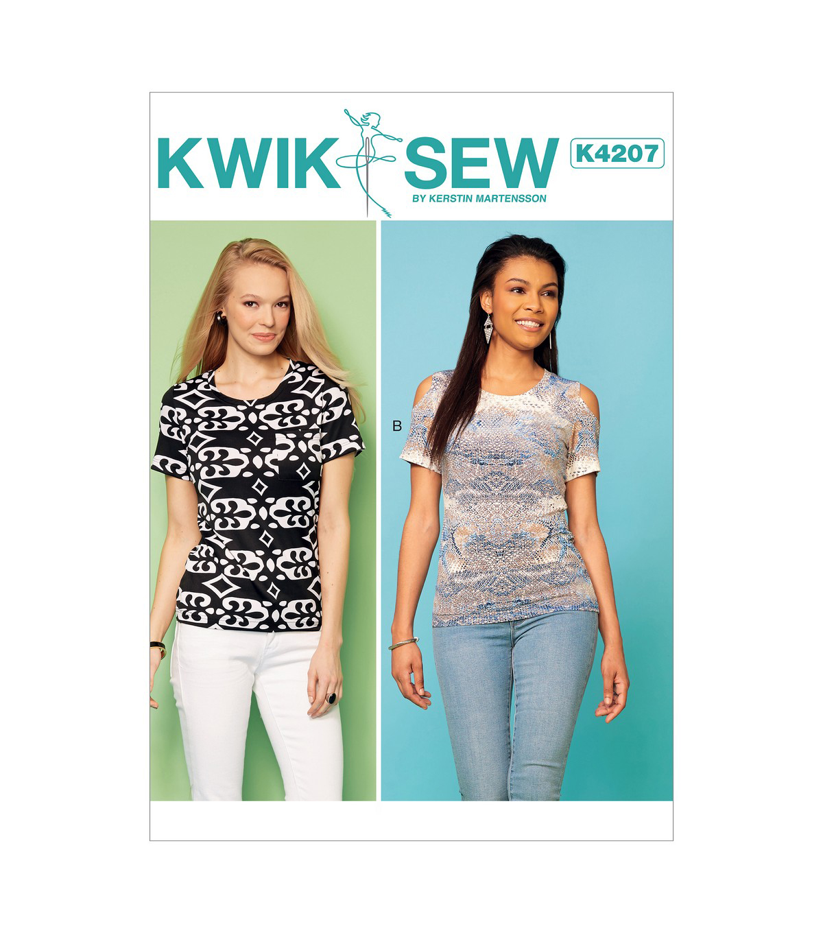 6ad089628e3fe Kwik Sew Pattern K4207 Misses  Tops with Cold-Shoulder-Size XS-S-M-L ...