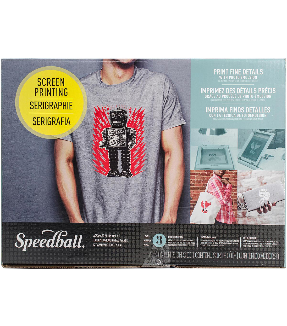 Speedball Ultimate Fabric Screen Printing Kit-Advanced All-In-One Kit