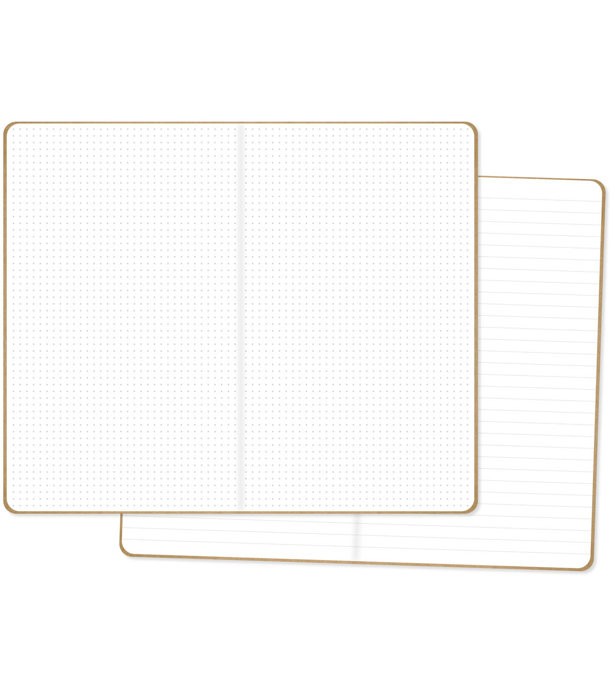 Carpe Diem Traveler\u0027s Notebook Inserts 2/Pkg-One Dot Grid/One Lined