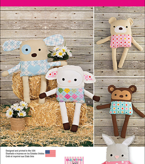 Simplicity Patterns Us1090Os-Simplicity Stuffed Animals With Clothes-One Size