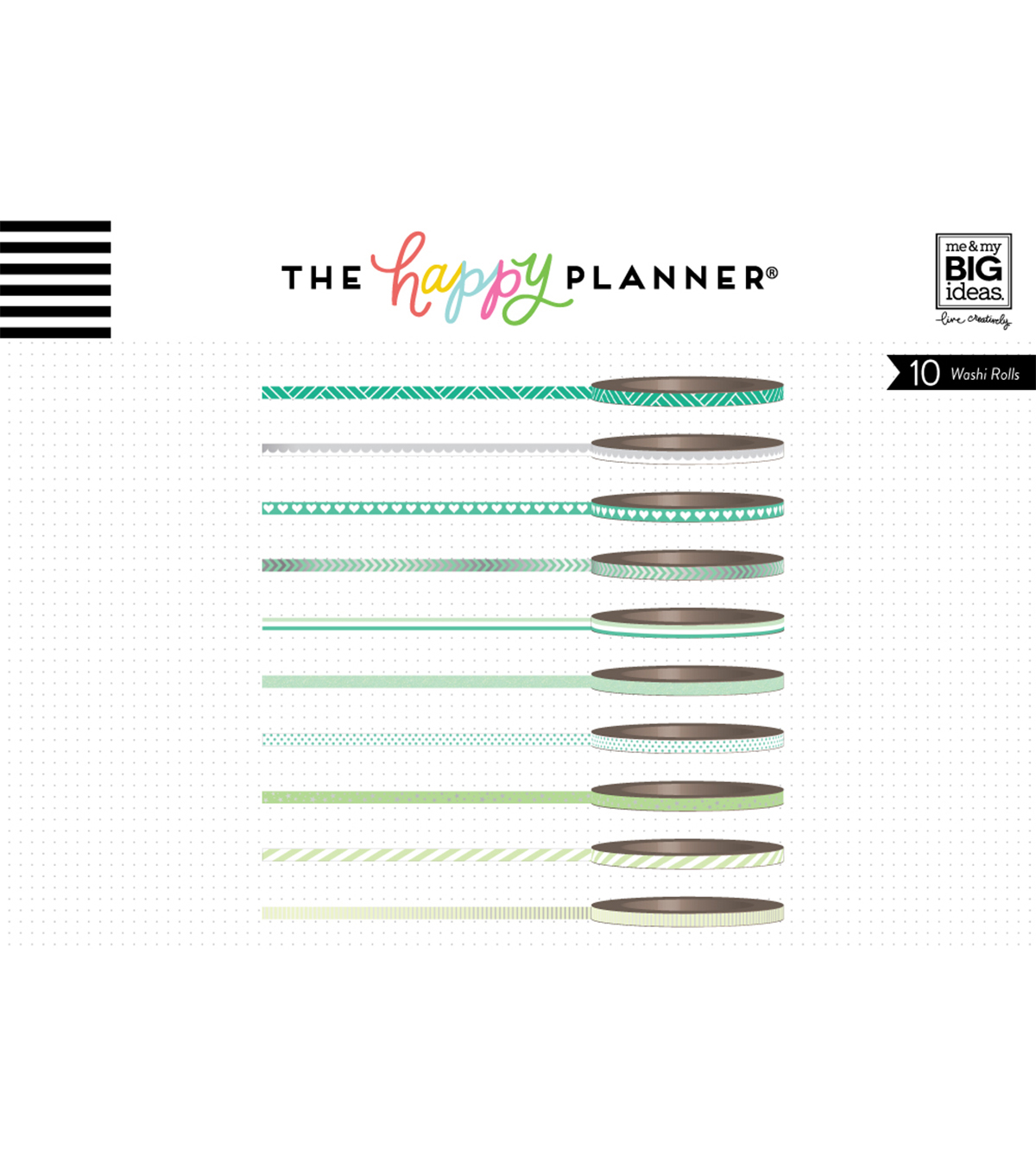 The Happy Planner Mini Washi Tape-Green