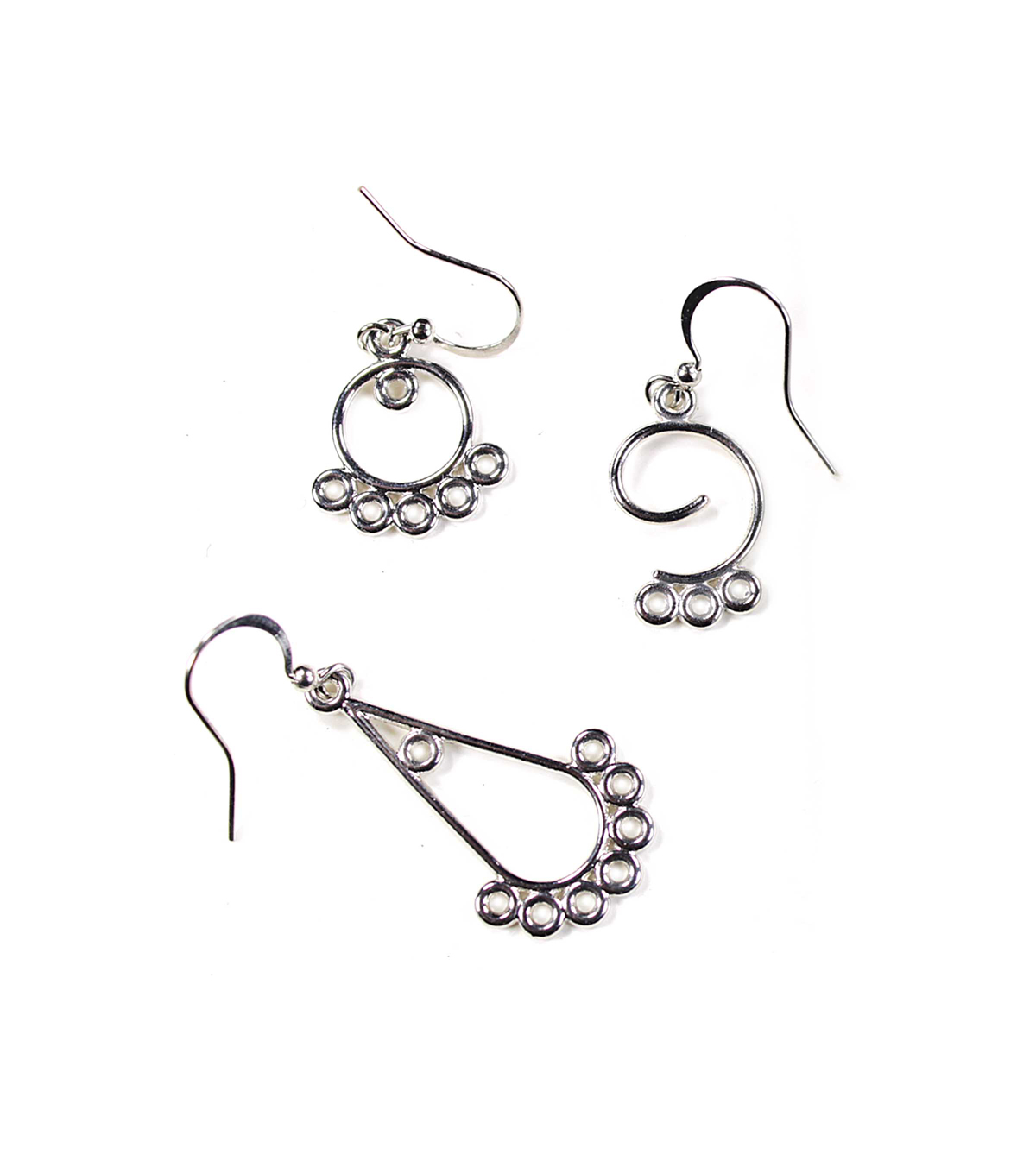 Blue Moon Findings Earring Metal Value Pack Multi Pack Assorted Silver