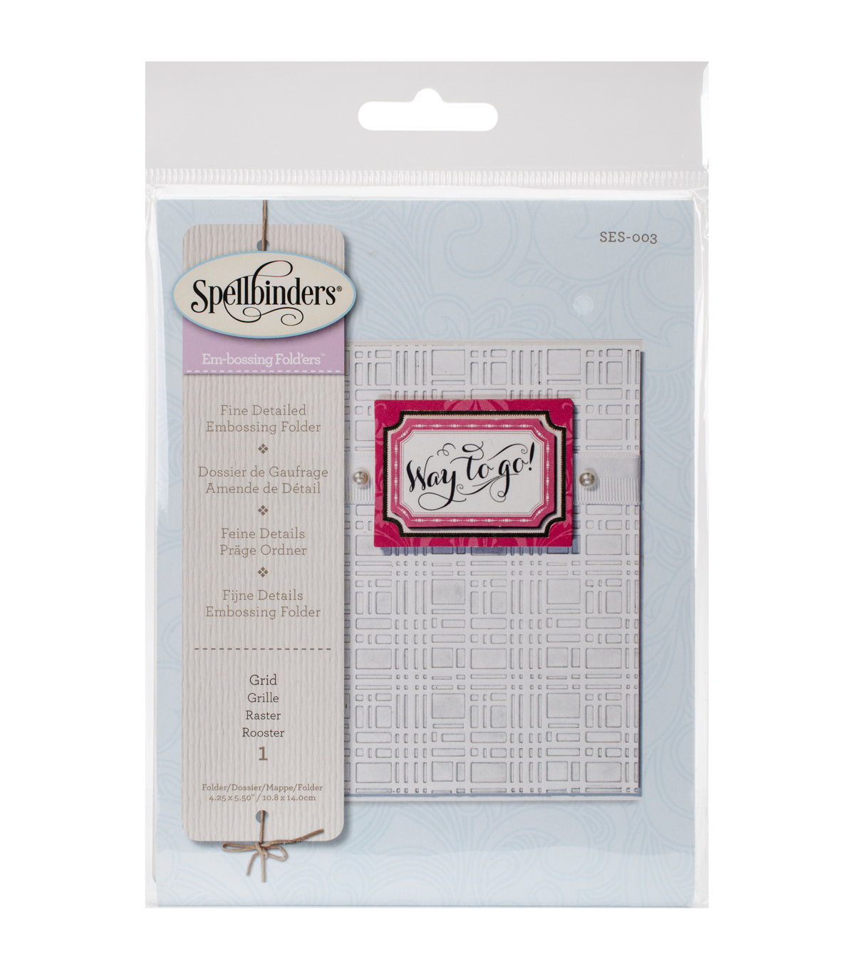 Spellbinders Small Embossing Folder-Grid