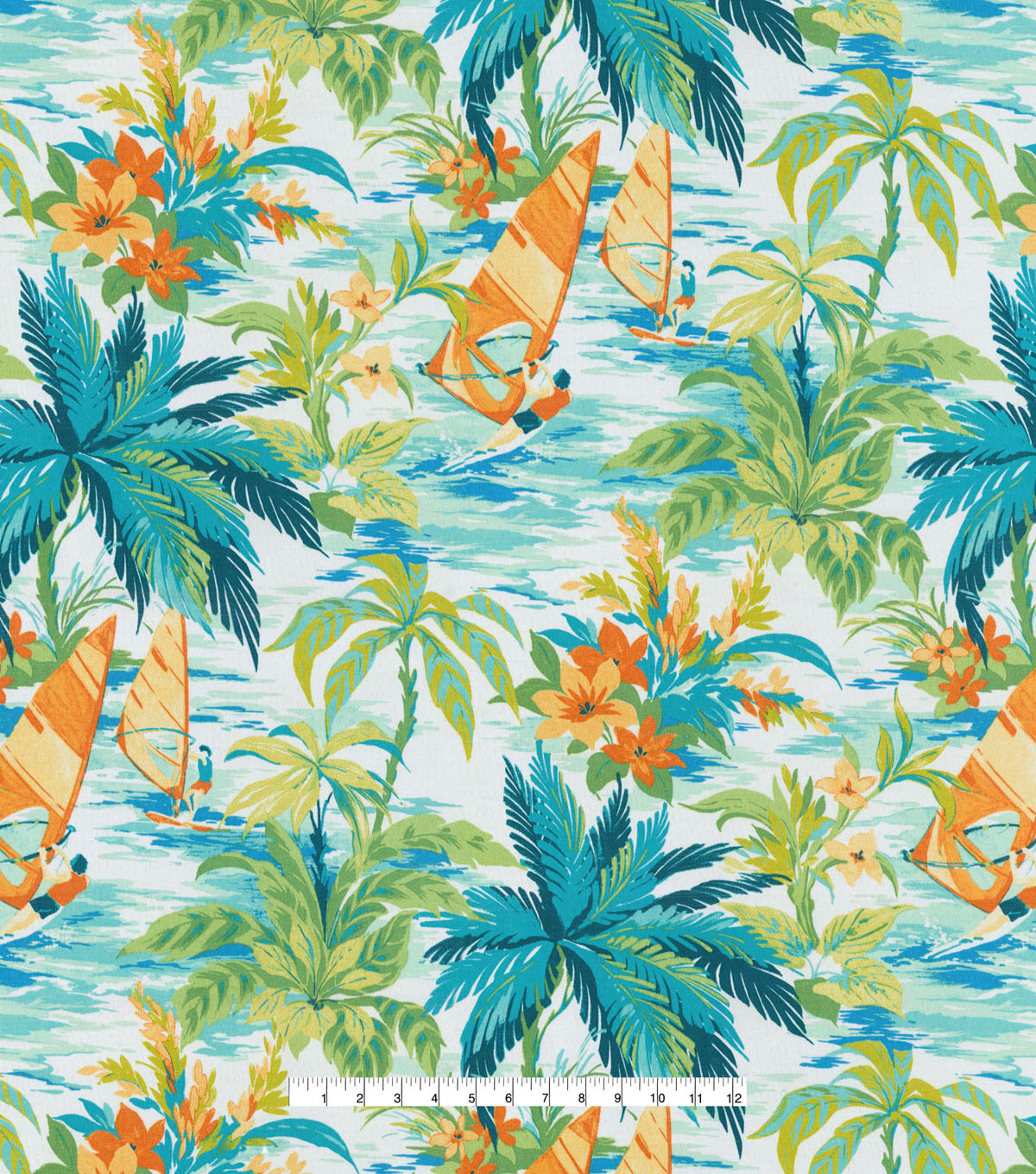 Tommy Bahama Outdoor Decor Fabric 54\u0022-Wind Surfers Carribean