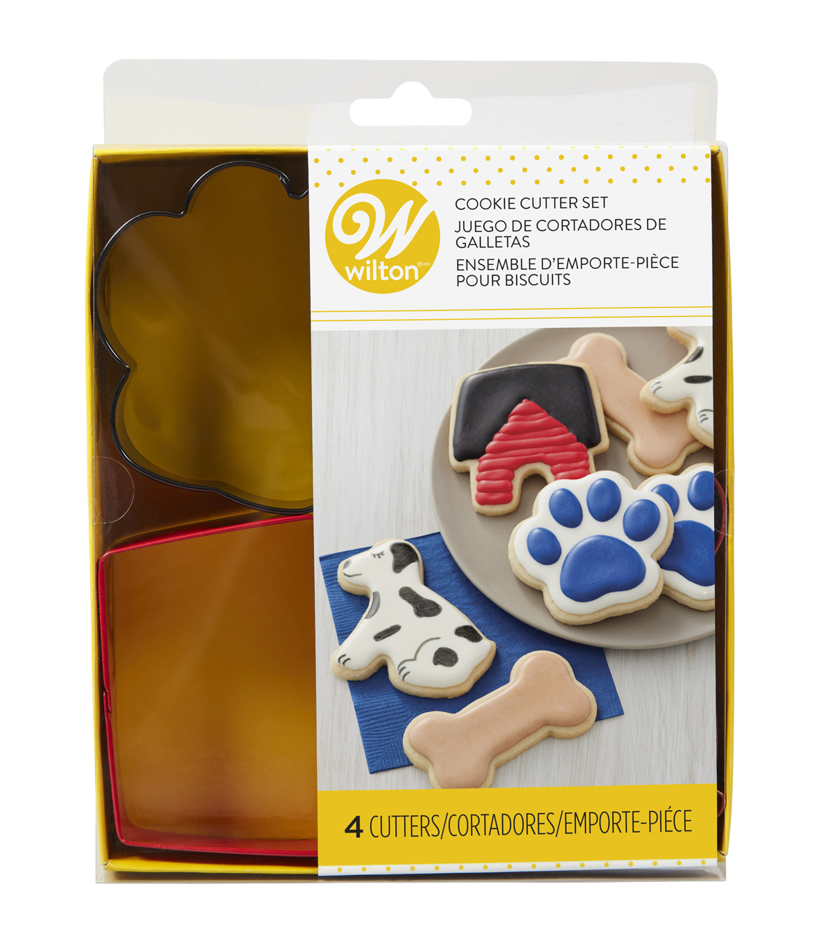 Wilton Metal Cookie Cutter Set-Pet Theme
