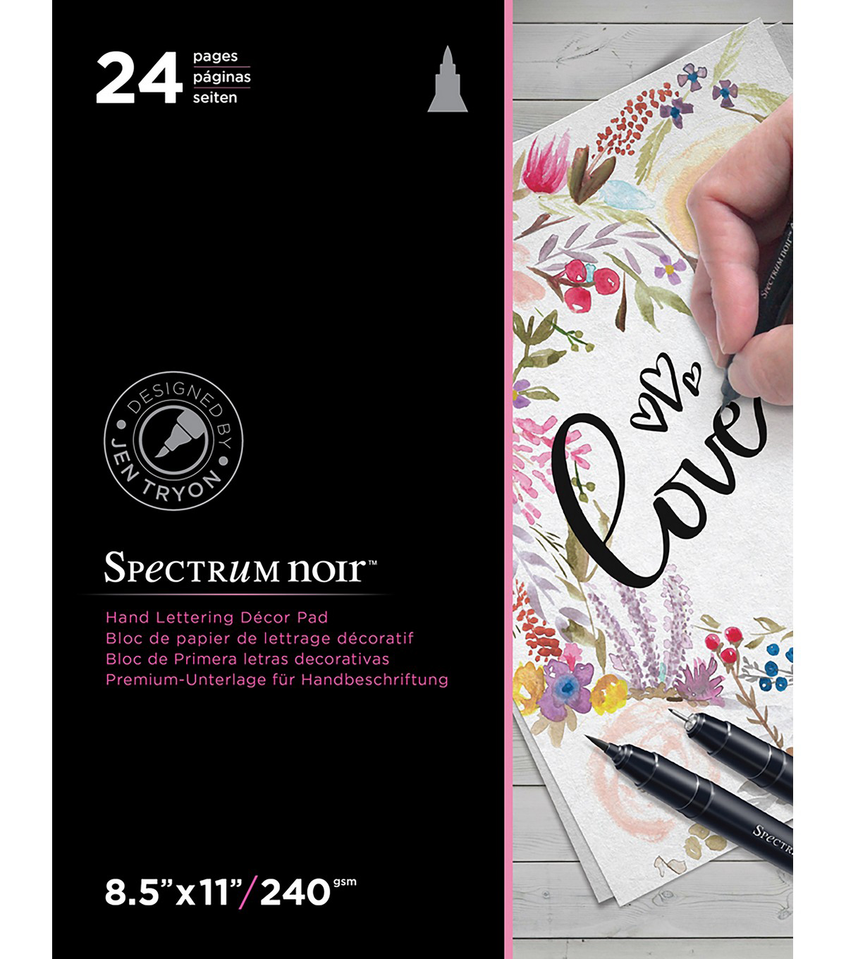 Spectrum Noir Hand Lettering Decor Pad 8.5\u0022X11\u0022-Love