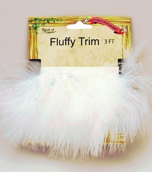 Marabou Feather Trim Tape White