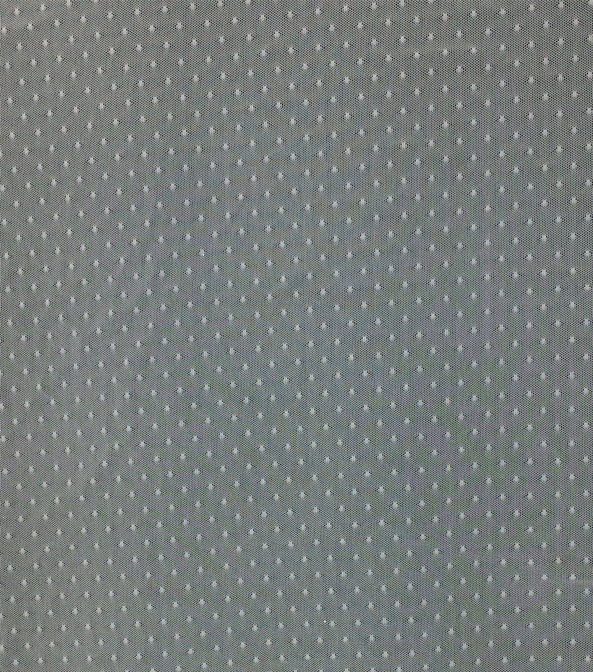 Save the Date Dotted Mesh Fabric 54\u0022-Bright White
