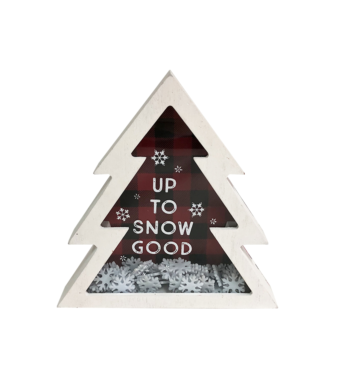 Maker\u0027s Holiday Christmas Tree Shaker Decor-Up to Snow Good