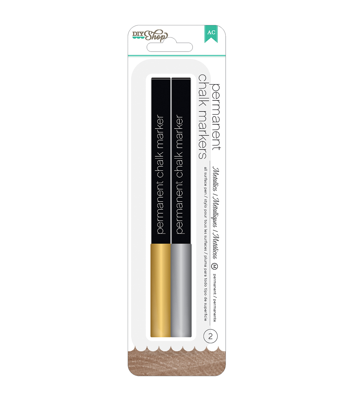American Crafts DIY Shop 2 Permanent Chalk Markers Broad Tip