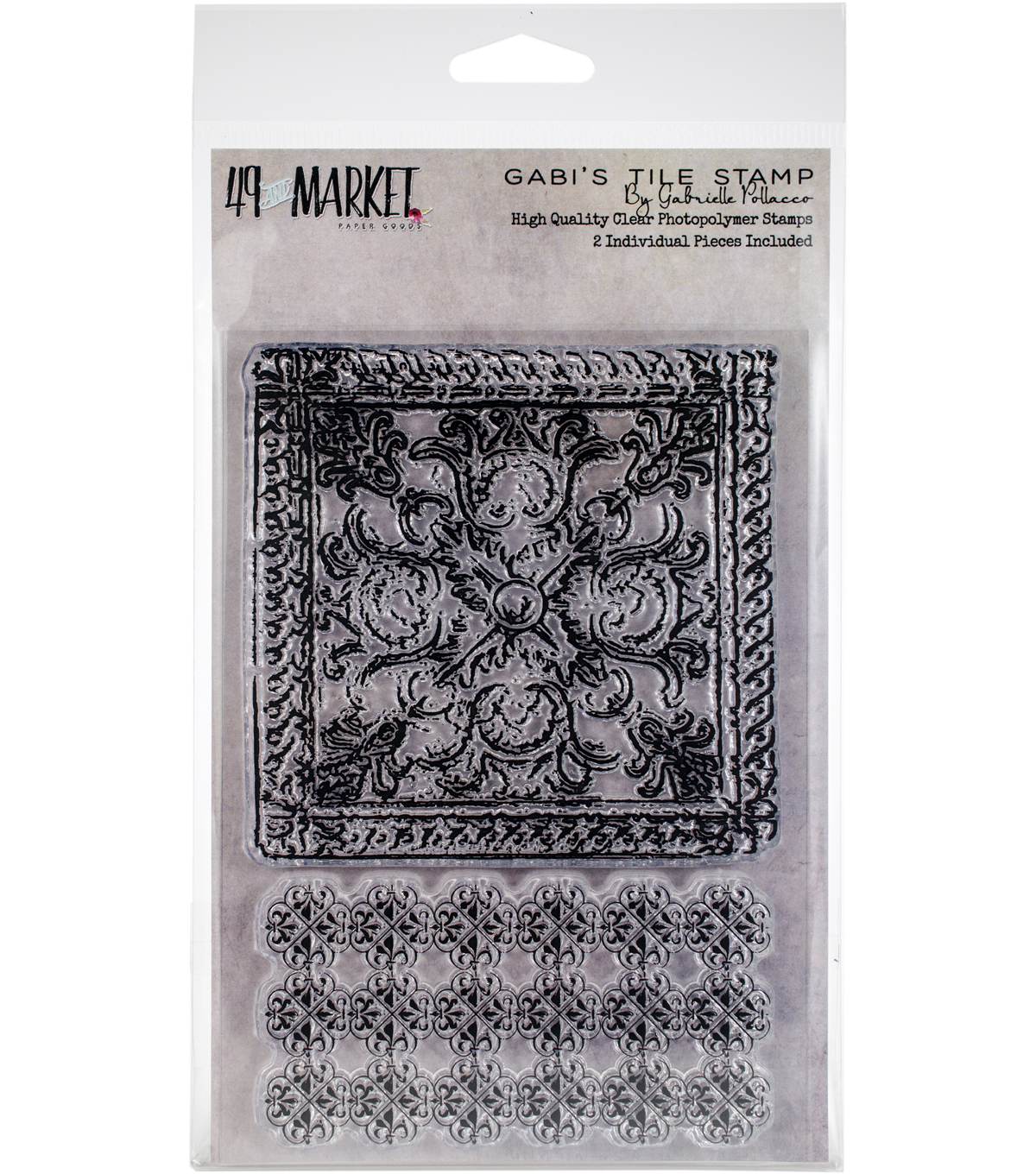 49 And Market Gabrielle Pollacco Clear Photopolymer Stamp-Gabi\u0027s Tile