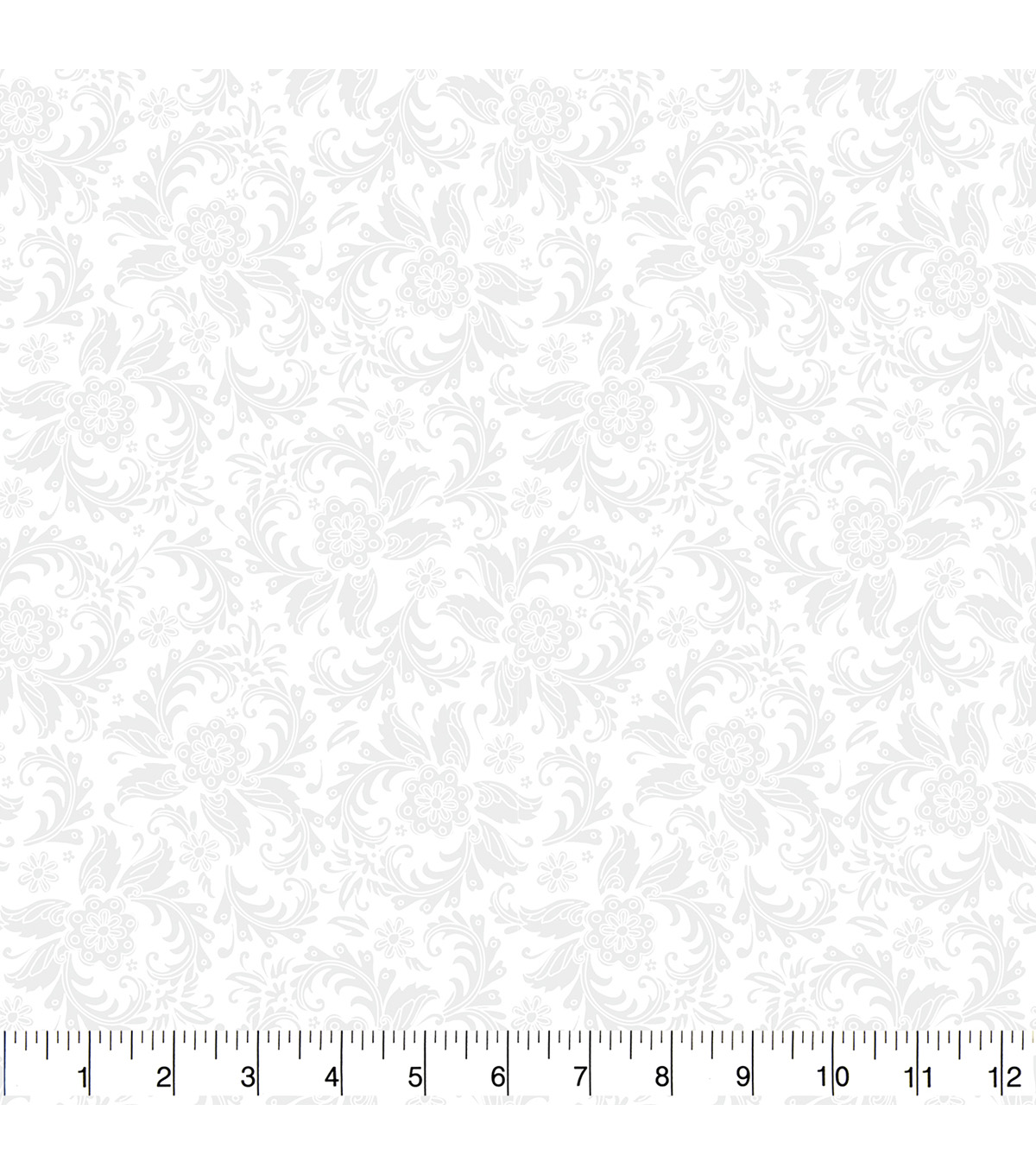 Quilt Block of the Month Coordinating Fabric 43\u0022-White Floral Tonal
