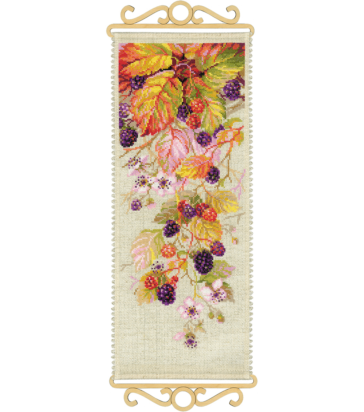 Blackberry Counted Cross Stitch Kit 14 Count