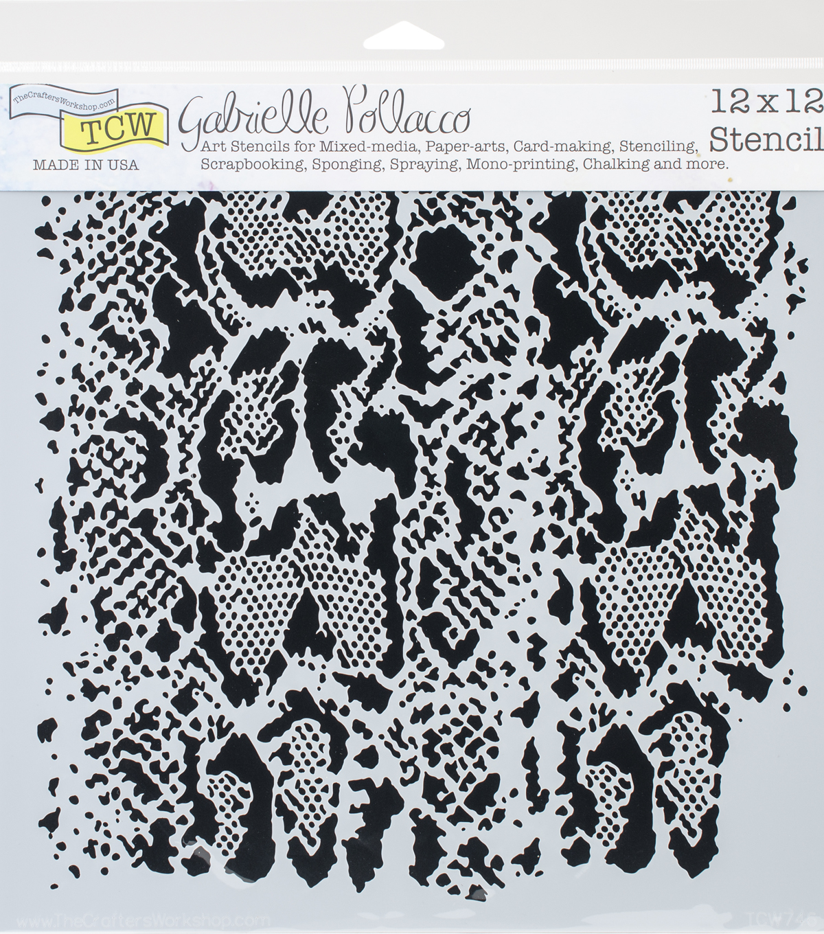 Crafter\'s Workshop Gabrielle Pollacco Template 12\'\'x12\'\'-Snakeskin ...