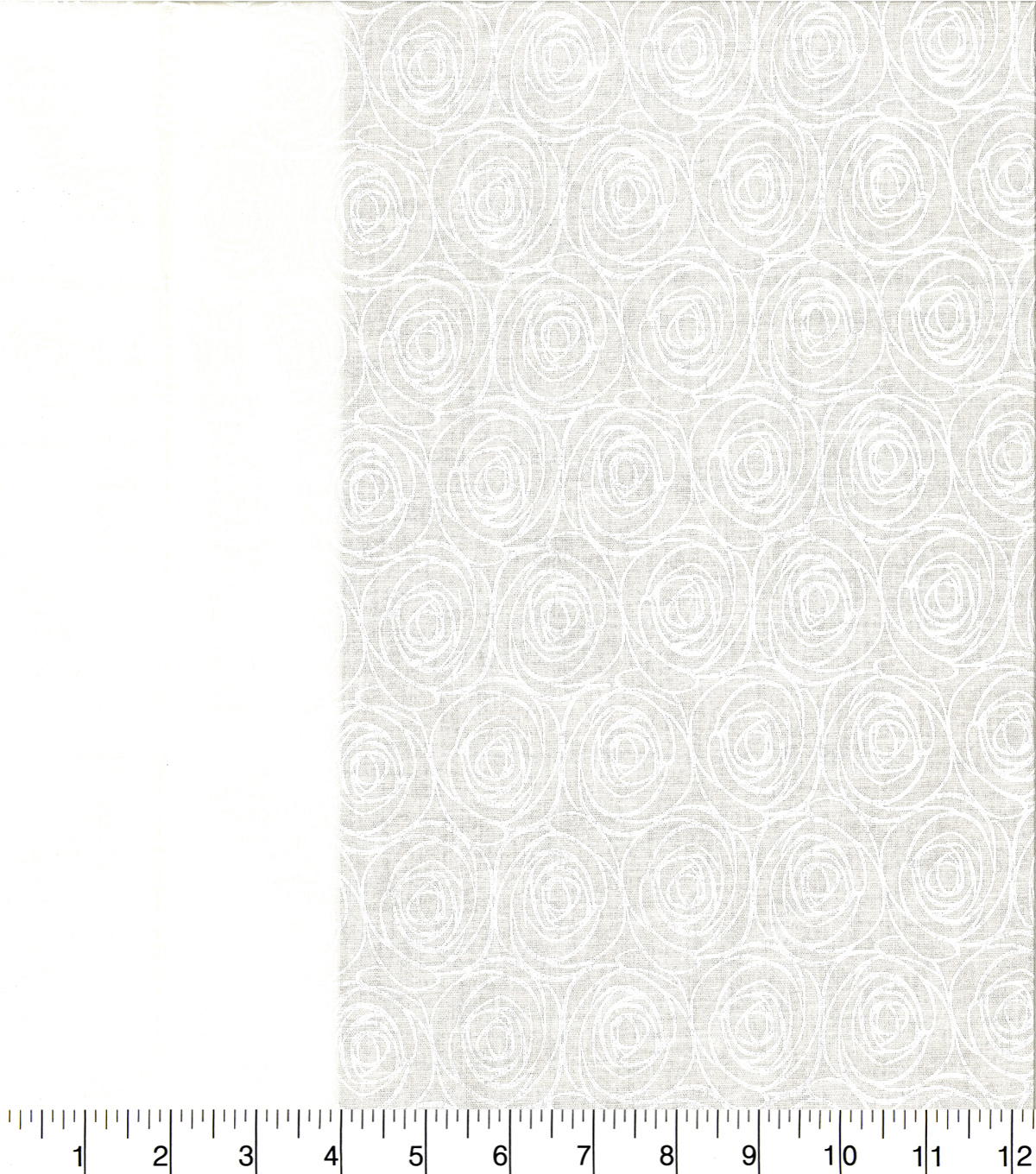 Quilter\u0027s Showcase Cotton Fabric 44\u0027\u0027-White Floral Outline