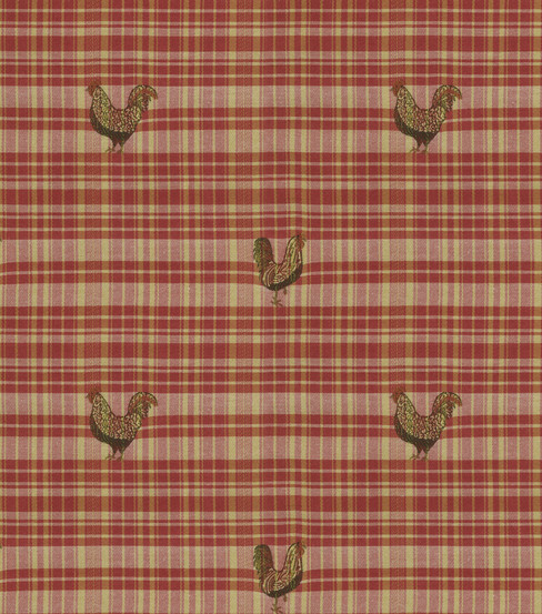 Waverly Upholstery Fabric Farmhouse Friends/Ruby