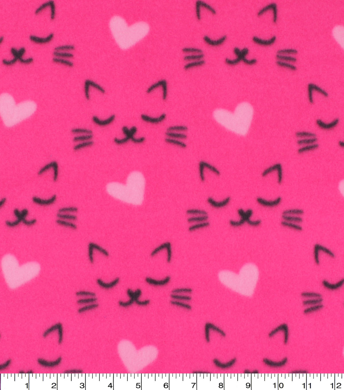 Blizzard Fleece Fabric-Pink Sleeping Kitty Faces