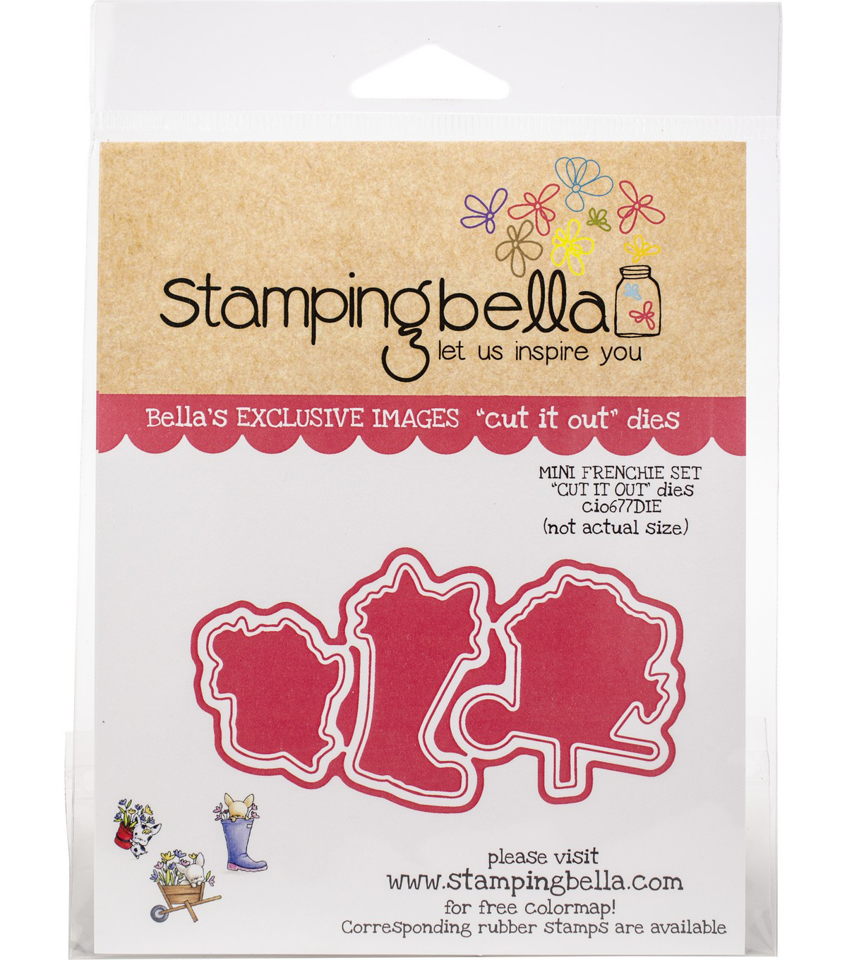 Stamping Bella Cut It Out Dies-Mini Frenchie