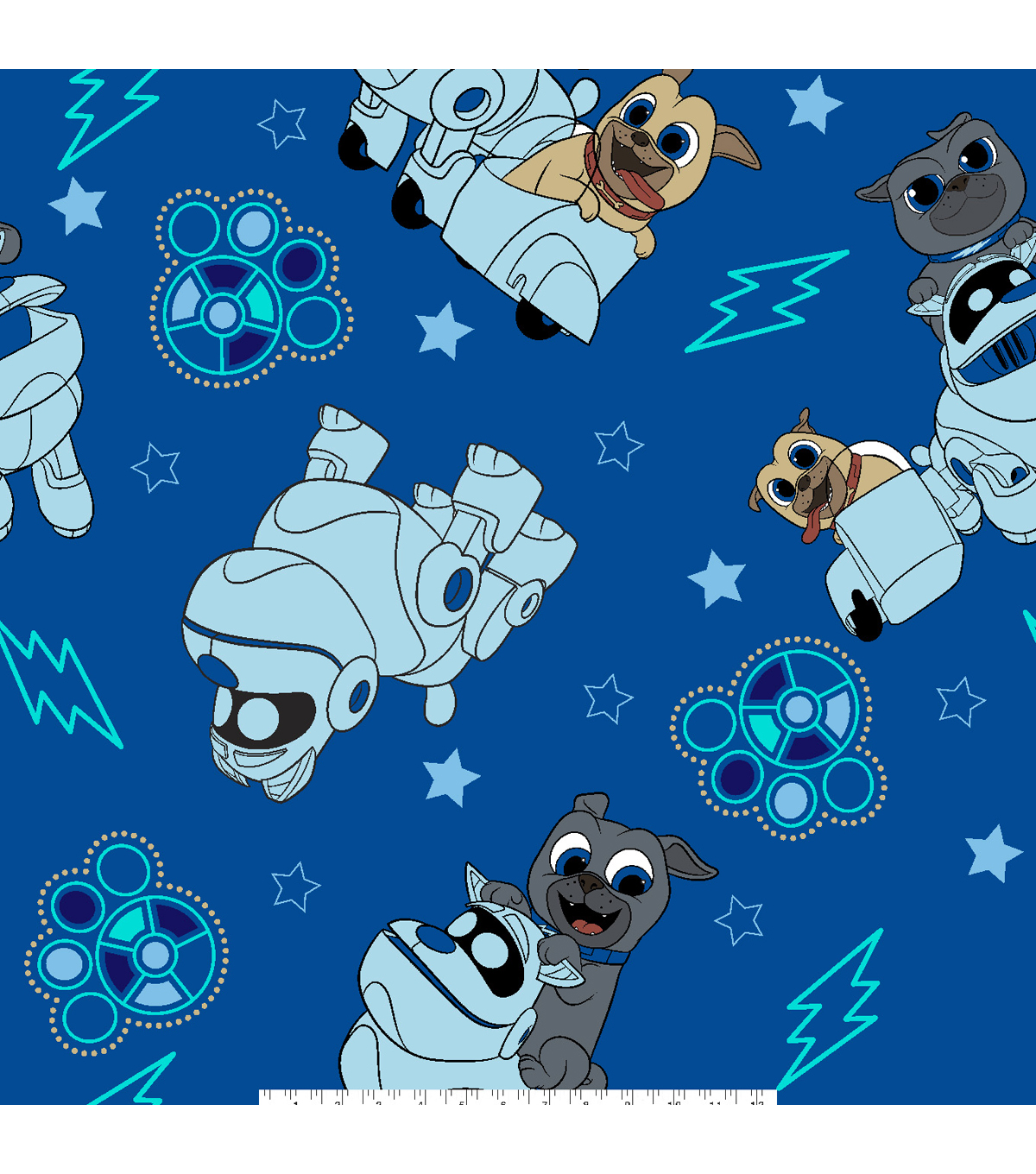 Disney Puppy Dog Pals Fleece Fabric 59\u0027\u0027-Adventure