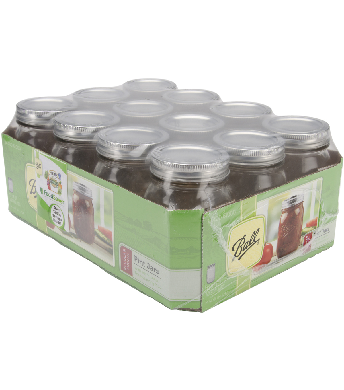 Ball Regular Mouth Canning Jar 12/Pkg-Pint