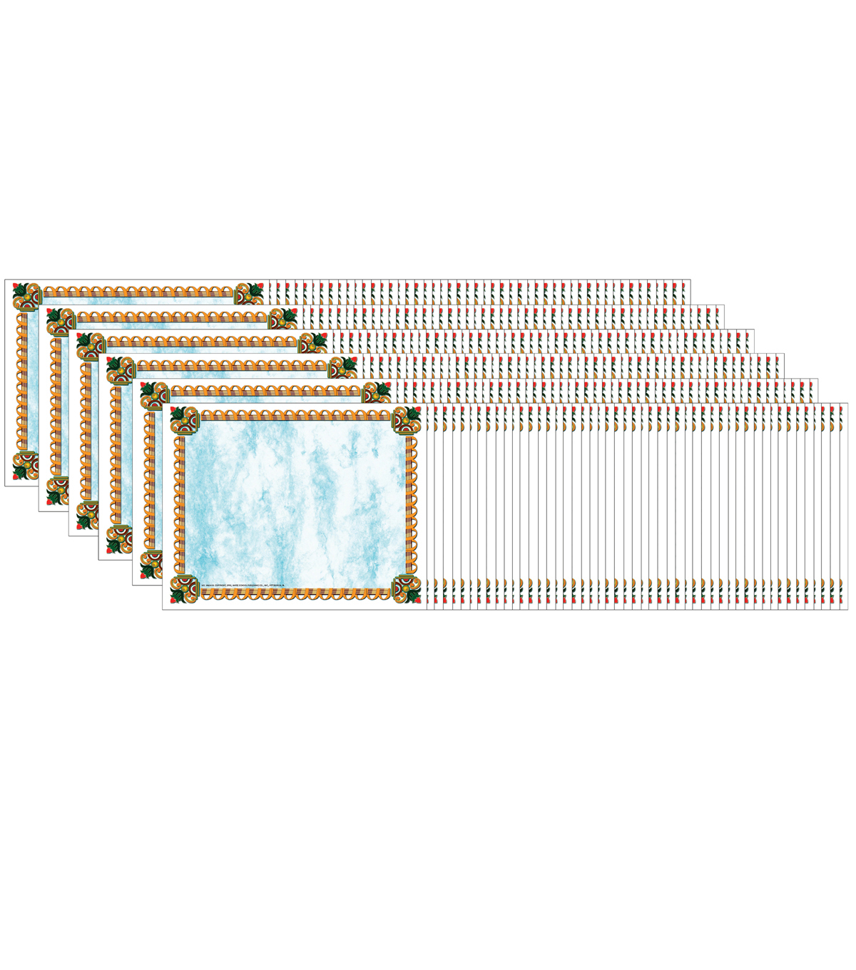 Hayes Gold Border Certificate, 50 Per Pack, 6 Packs