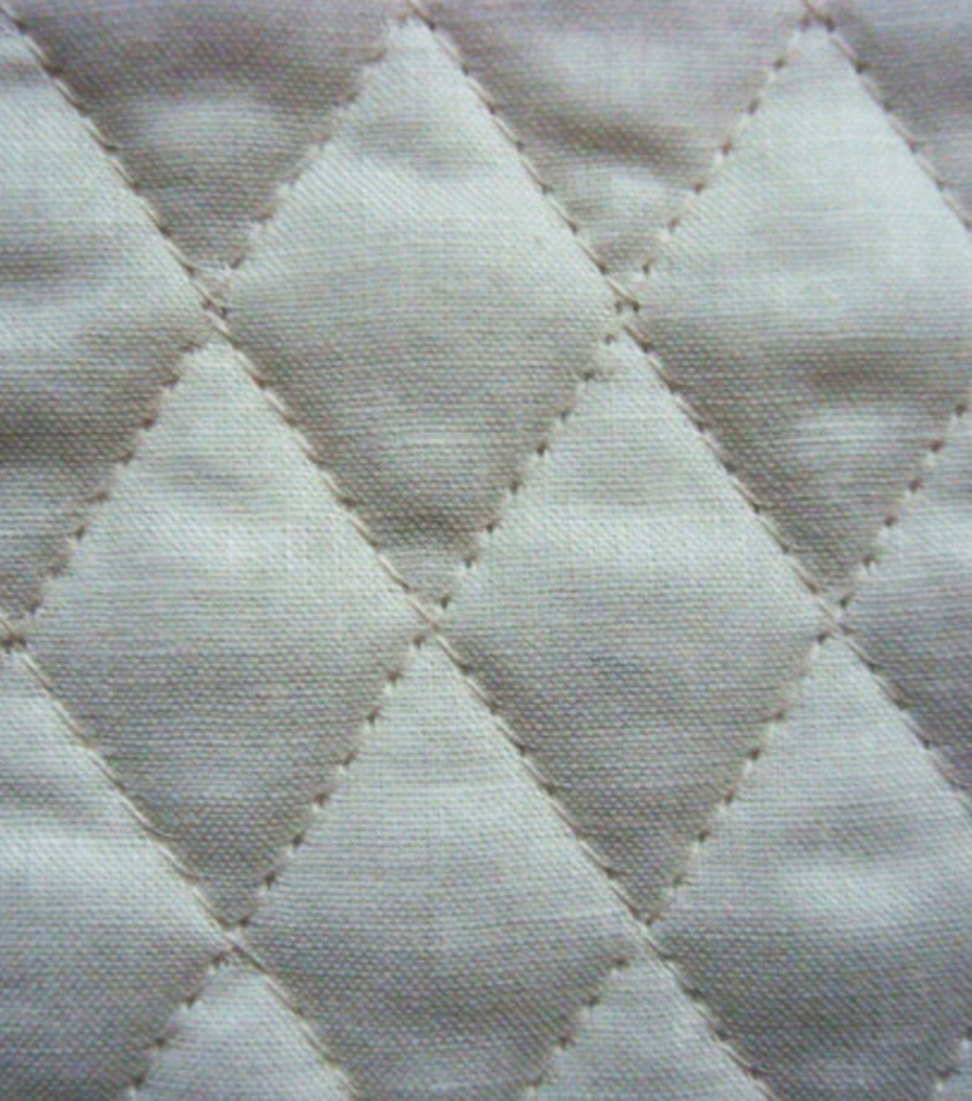 Double Faced Pre-Quilted Cotton Fabric -Diamond Solids, Parchment