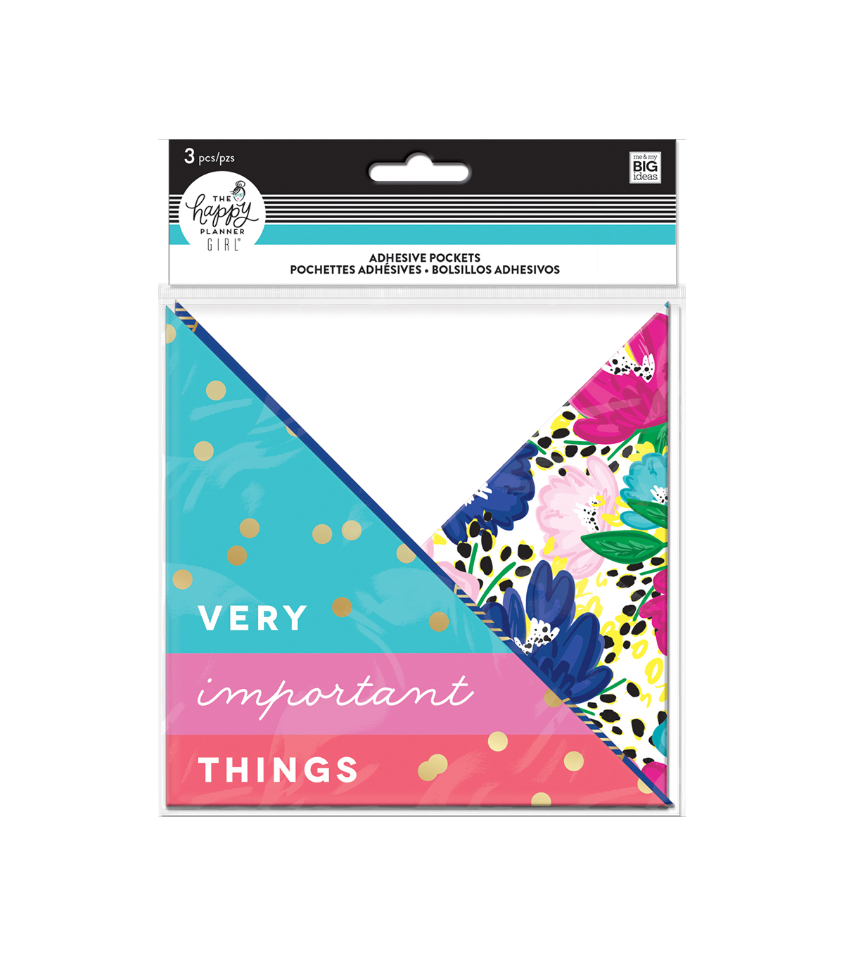 The Happy Planner Girl Adhesive Pockets - Socialite