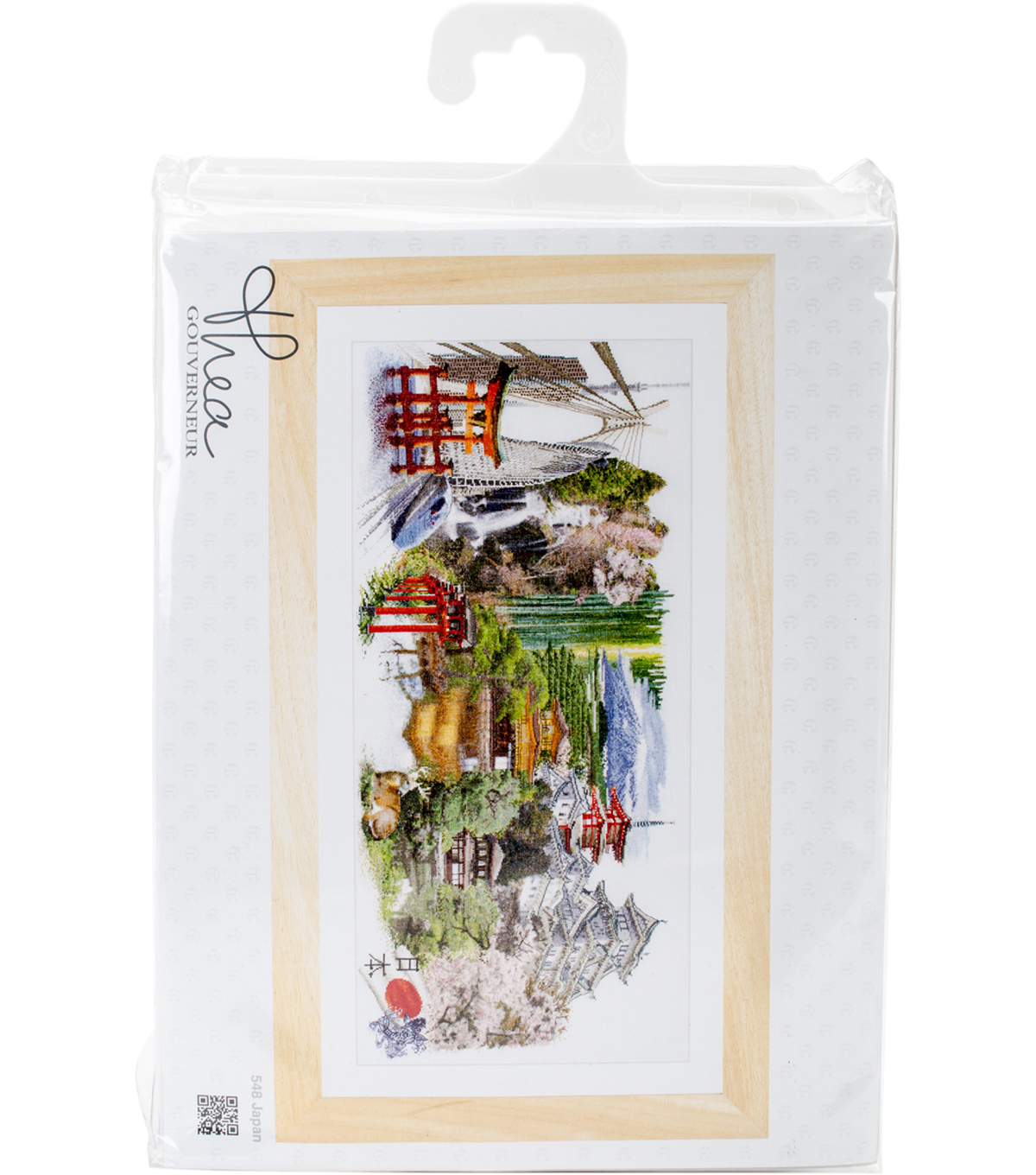 Japan On Aida Counted Cross Stitch Kit 18 Count