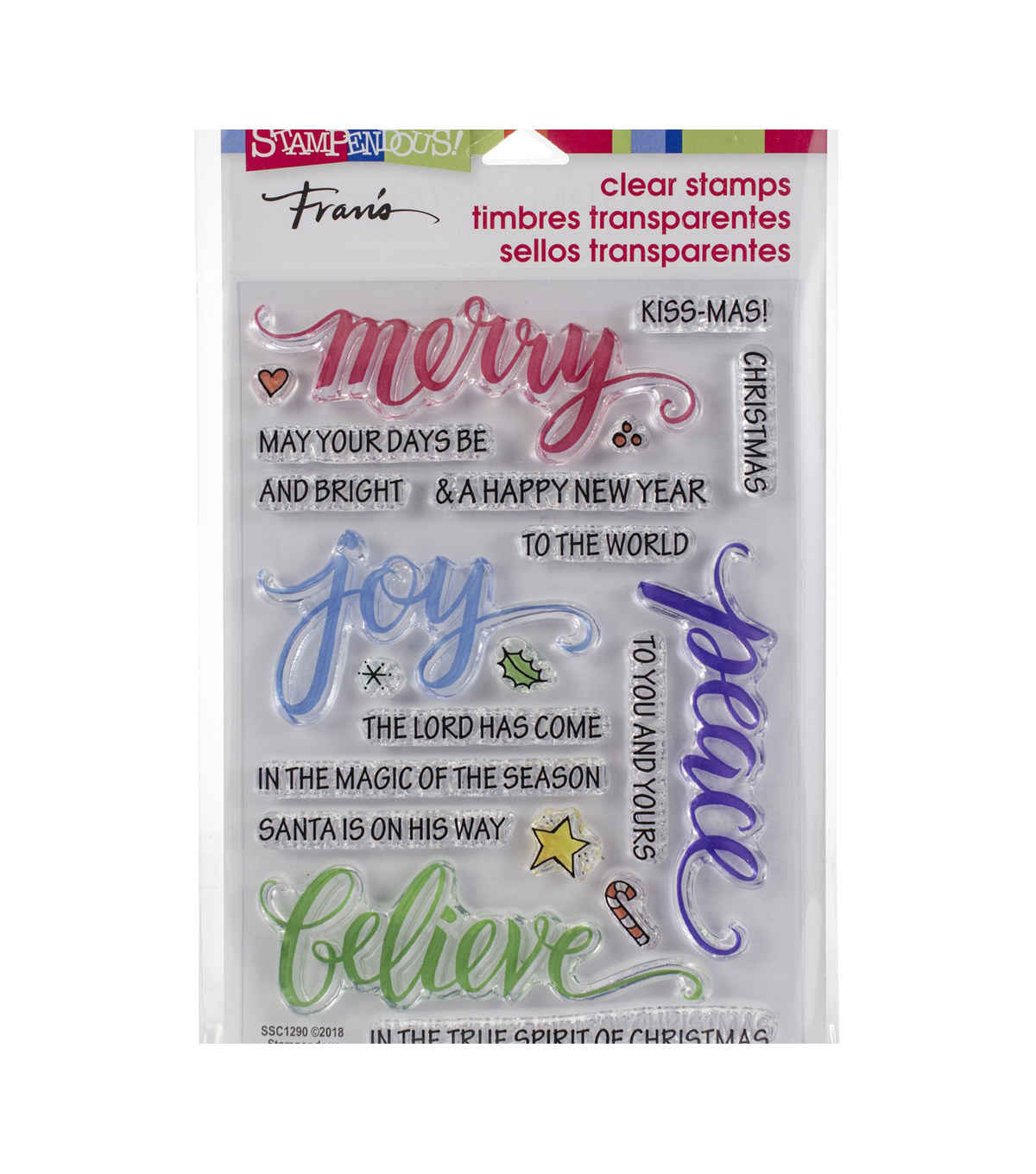Stampendous Perfectly Clear Stamps -Merry Words