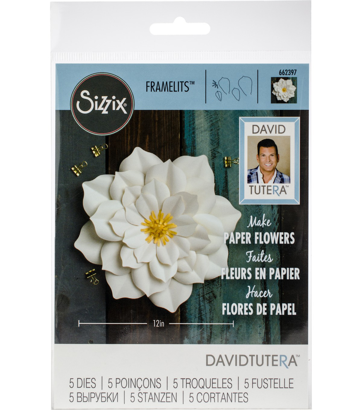 Sizzix Framelits Dies By David Tutera -Large Lily