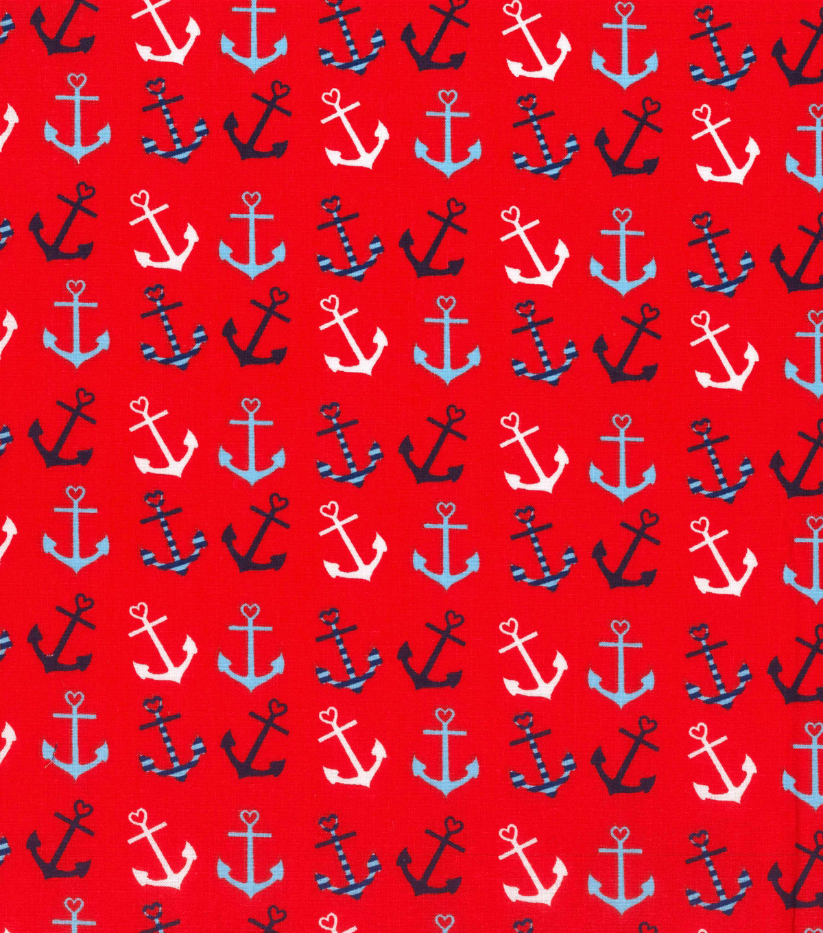 Novelty Cotton Fabric -Anchor Hearts