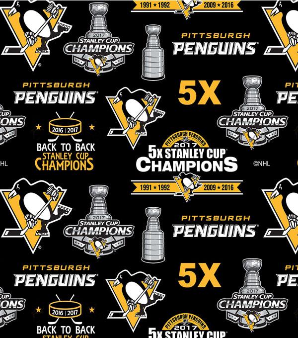 on sale 39bca d07b9 Pittsburgh Penguins Fleece Fabric -Stanley Cup