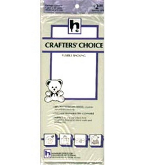 Crafters\u0027 Choice Firm Fusible Non-Woven Backing-20\u0022W x 1yd