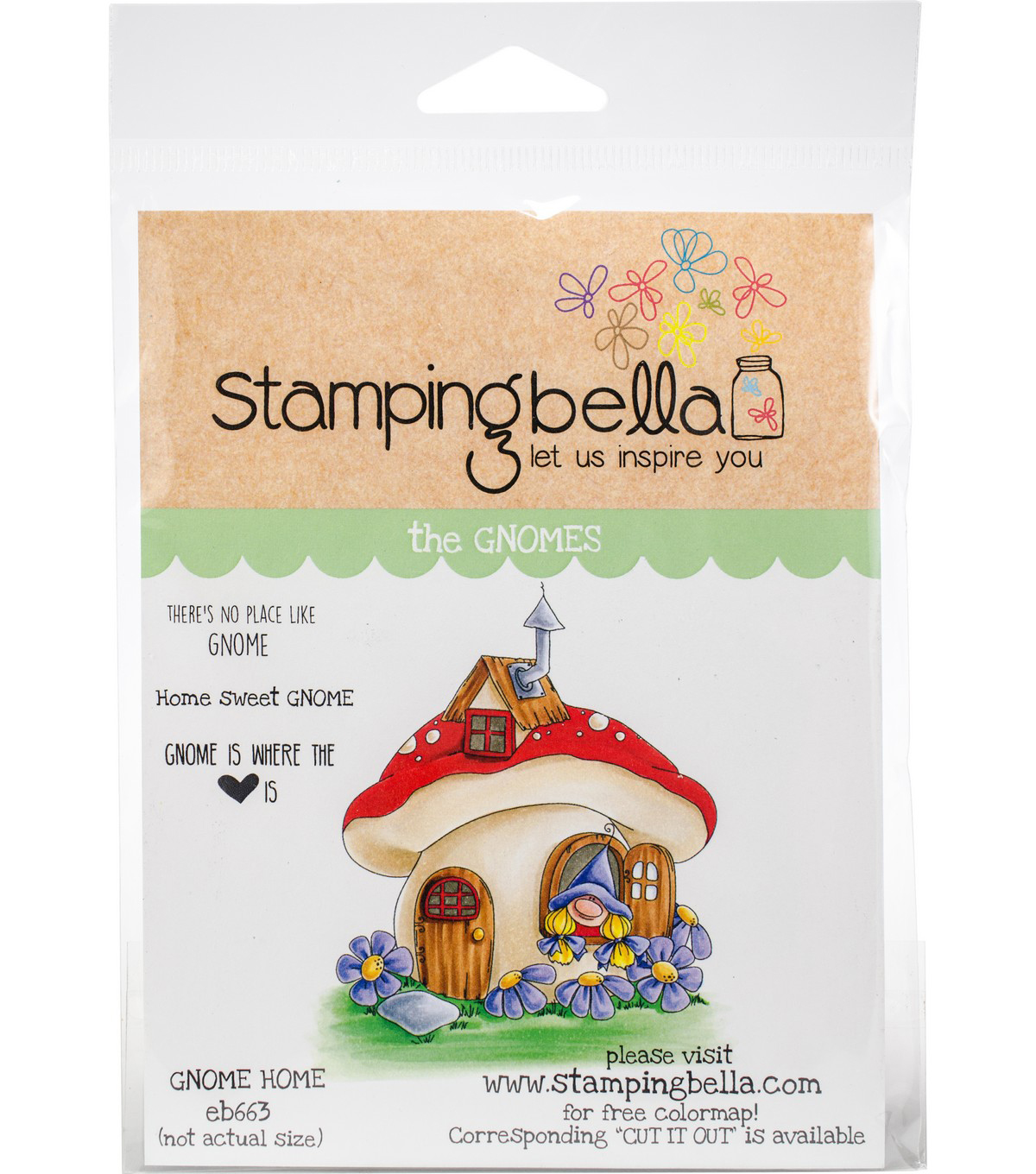 Stamping Bella Cling Stamps-Gnome Home