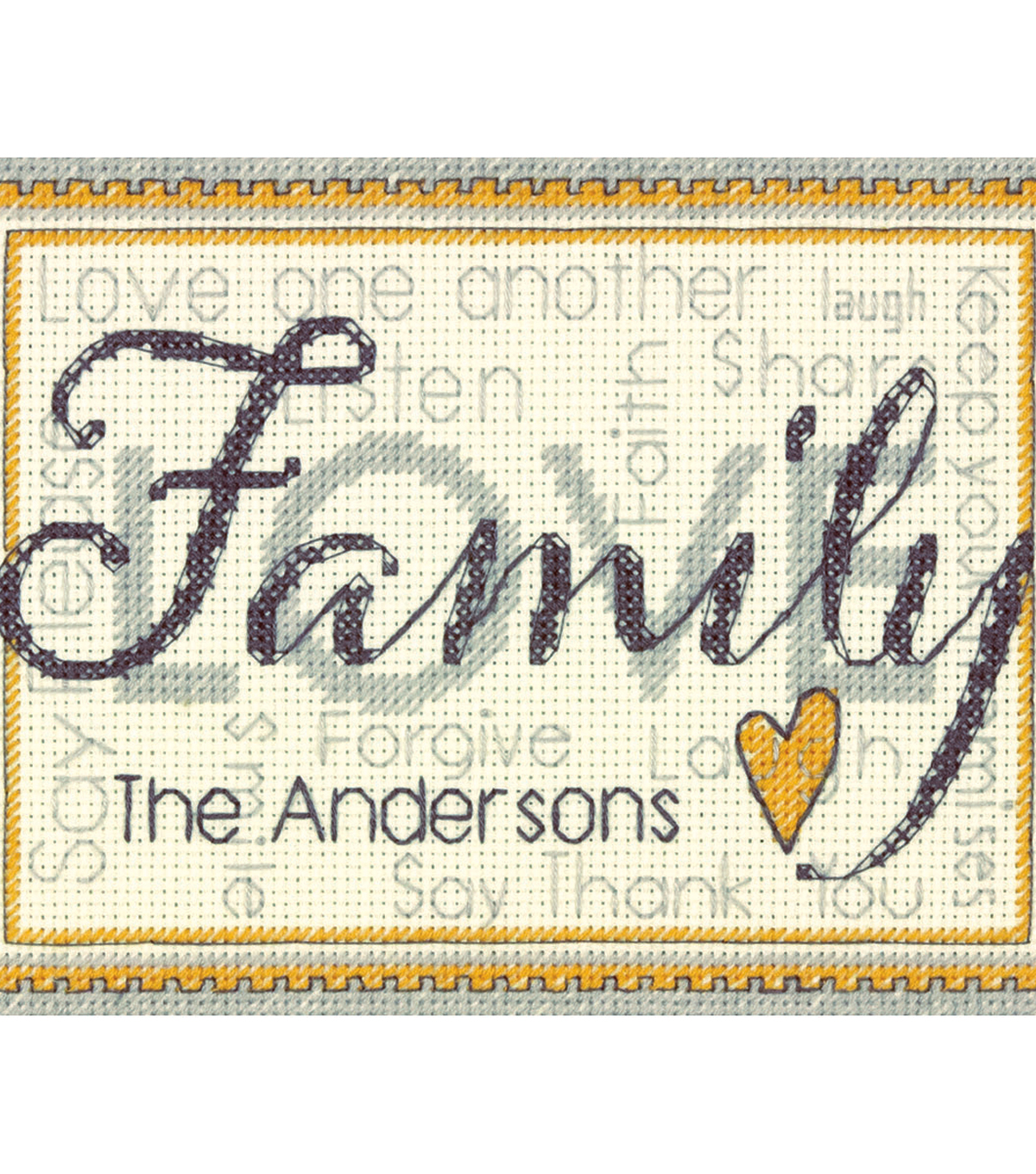 Family Mini Counted Cross Stitch Kit 14 Count