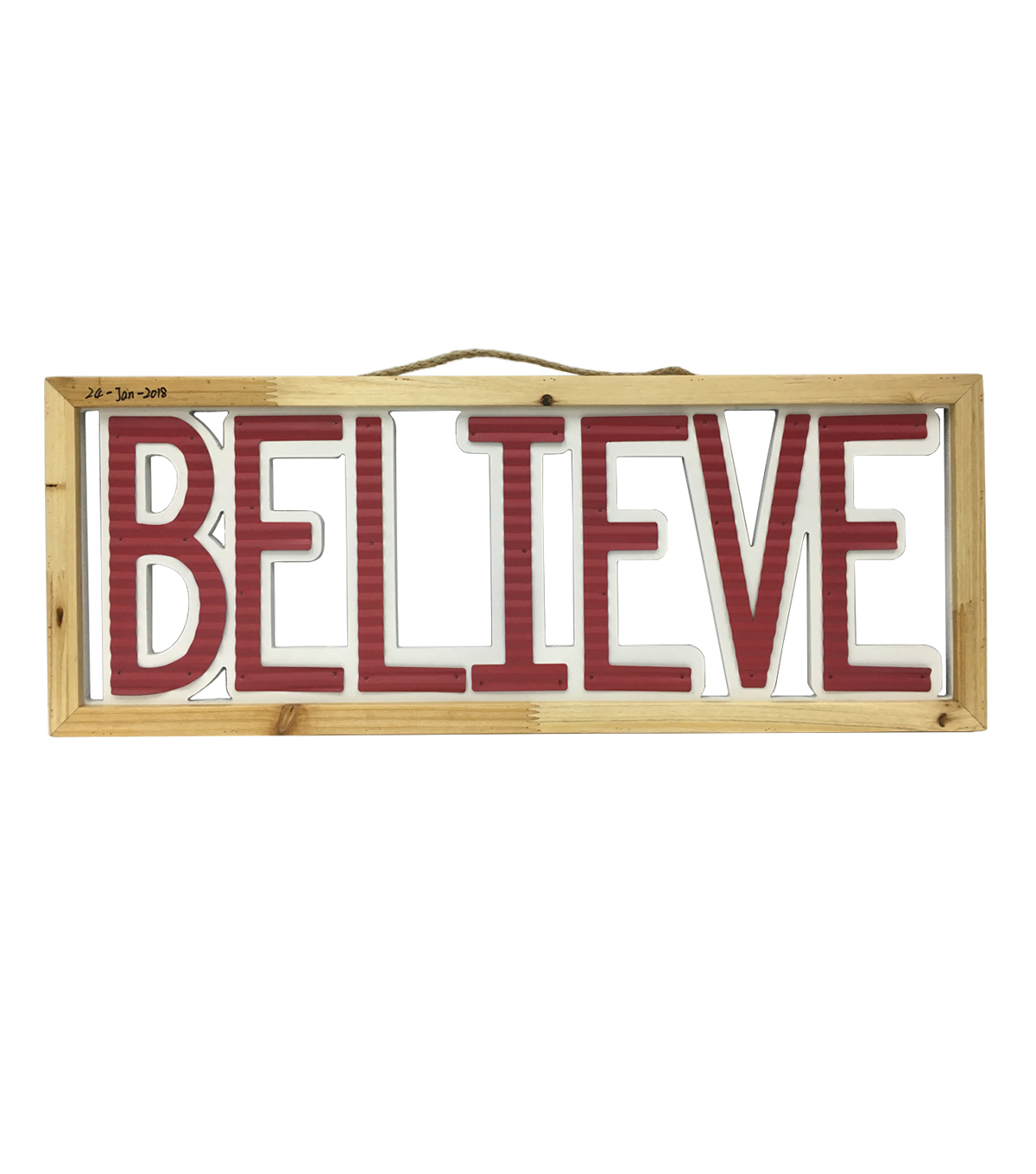 Maker\u0027s Holiday Christmas Wall Decor-Red & White Believe