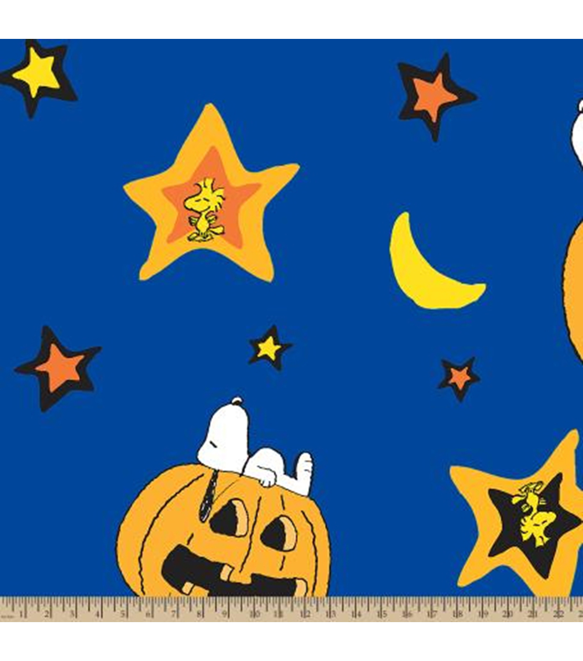 Snoopy Fleece Fabric-Pumpkin