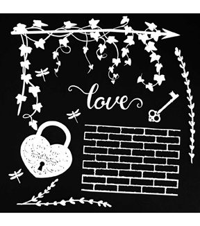 49 and Market 6\u0027\u0027x6\u0027\u0027 Laser Cut Shapes Archival Board-Love White