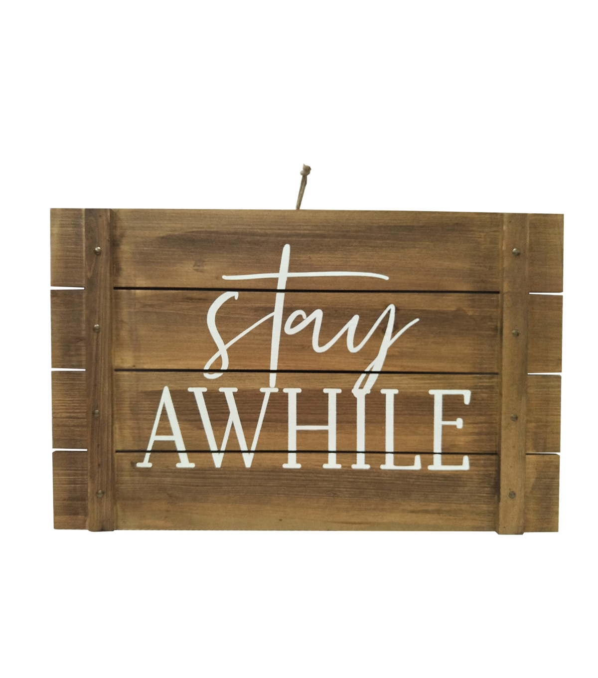 Simply Spring 24.02\u0027\u0027 Wooden Wall Decor-Stay Awhile