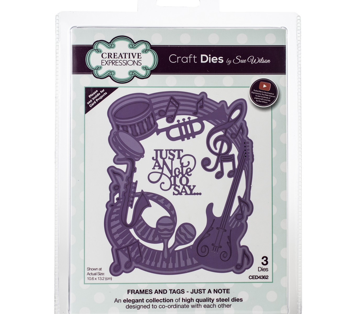 Craft Dies By Sue Wilson-Frames & Tags-Just A Note