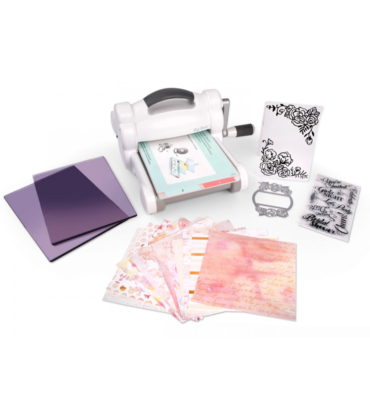 Sizzix David Tutera Big Shot Starter Kit-White & Gray