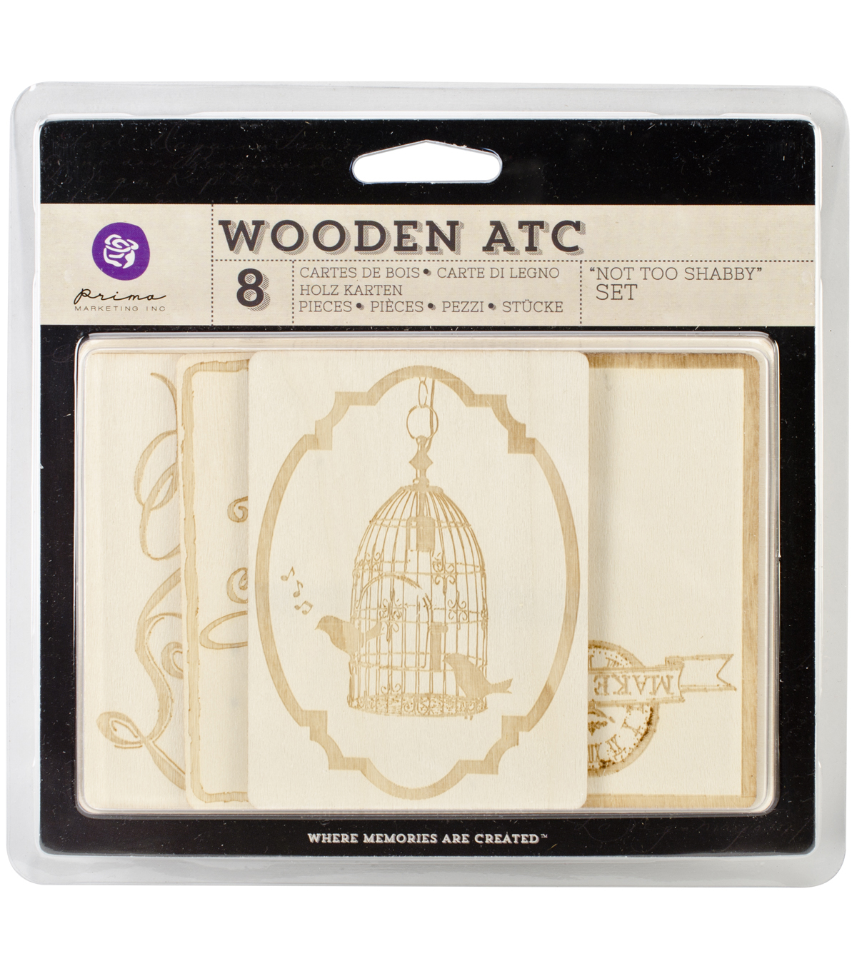 Wooden ATC Cards 10/Pkg-Not Too Shabby